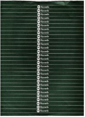 ABC / ABC Records Logo Repeated / Dark Green with White Horizontal Lines (Record Company Inner Sleeve, 12
