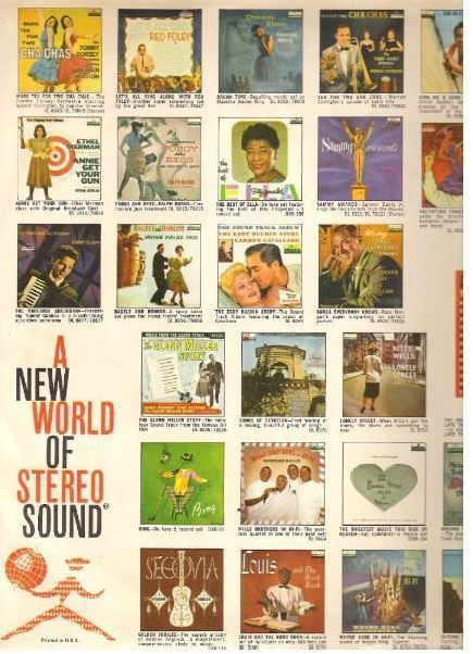 """Decca / Color Pictures of 27 Decca albums / White, Red, Black, Color Pictures (Record Company Inner Sleeve, 12"""")"""