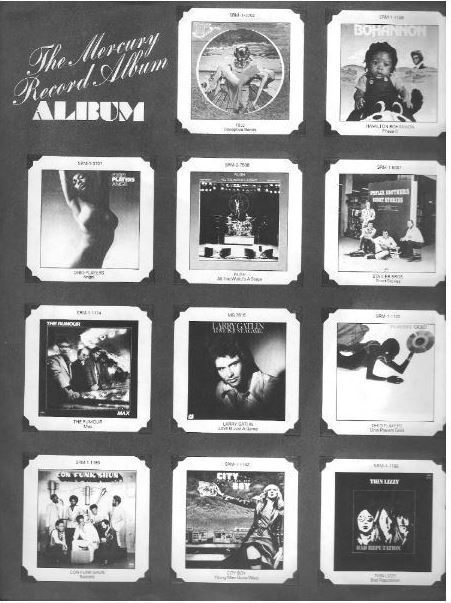 "Mercury / The Mercury Record Album ALBUM / Dark Gray with White Print (Record Company Inner Sleeve, 12"")"