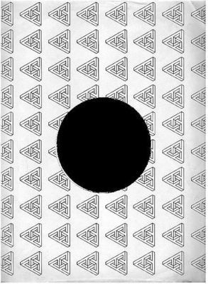 Infinity / Repeated Triangle Design (1978) / White, Black (Record Company Inner Sleeve, 12