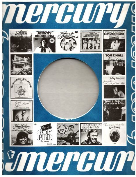 "Mercury / Pictures of 16 Mercury albums (1977) / Blue, White, Black (Record Company Inner Sleeve, 12"")"