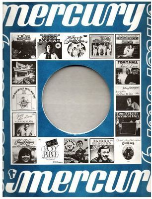 Mercury / Pictures of 16 Mercury albums (1977) / Blue, White, Black (Record Company Inner Sleeve, 12