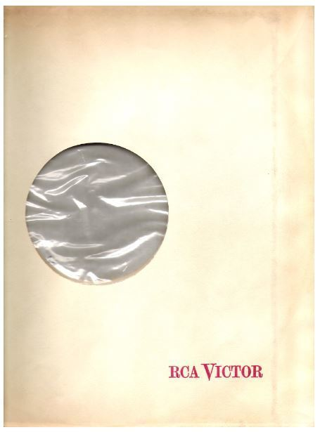 "RCA Victor / RCA Victor in red letters / White, Red, Clear (Record Company Inner Sleeve, 12"")"