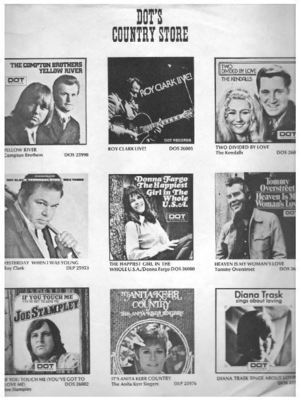 Dot / Dot's Country Store / White, Black (Record Company Inner Sleeve, 12