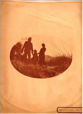 ABC-Dunhill / Oval shaped photo of man, woman, child / Orange-Brown (Record Company Inner Sleeve, 12