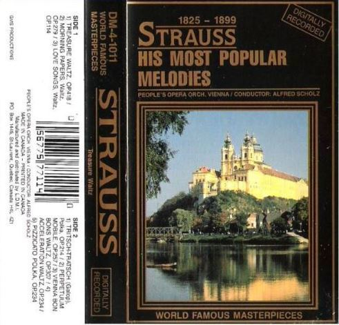 Scholz, Alfred / Strauss: His Most Popular Melodies / L.D.M.I. DM-4-1011 (Cassette) / Canada