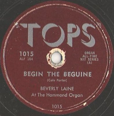 Laine, Beverly / Begin the Beguine (1957) / Tops 1015 (Single, 10