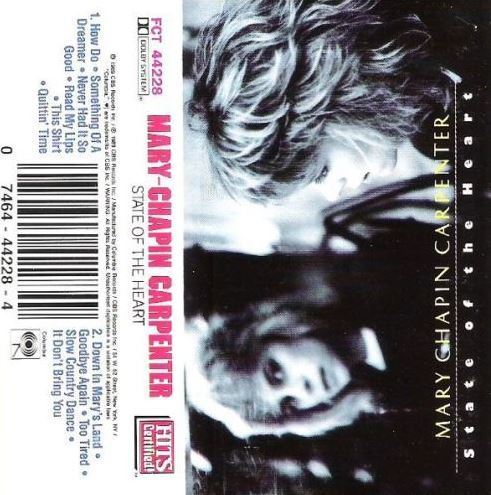 Carpenter, Mary Chapin / State of the Heart (1989) / Columbia CT-44228  (Cassette)