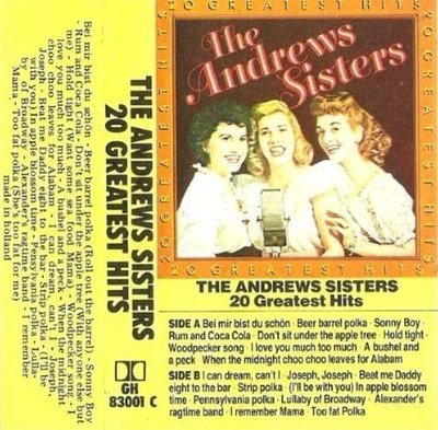 Andrews Sisters, The / 20 Greatest Hits / Scana GH-83001 C (Cassette) / Holland
