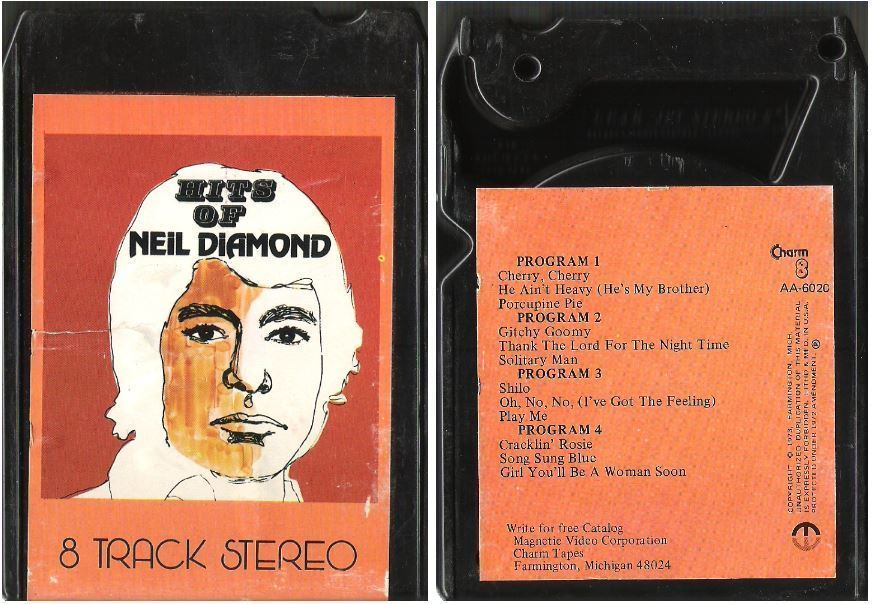 Uncredited Artists / Hits of Neil Diamond (1973) / Charm AA-6020 (8-Track Tape)