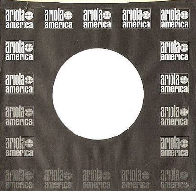 Ariola America / Rectangular Logo Pattern on Both Sides / Black-Gray-White (Record Company Sleeve, 7