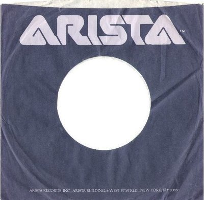 Arista / Logo at Top Center / Dark Blue-Purple (Record Company Sleeve, 7