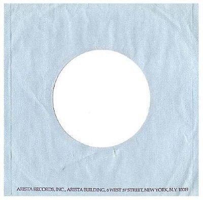 Arista / Shows Arista Address in Purple Print at Bottom / Light Blue-Purple (Record Company Sleeve, 7