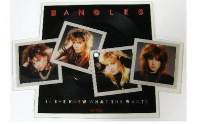 Bangles / If She Knew What She Wants (1986) / CBS WA-7062 (Shaped Vinyl Record) / England