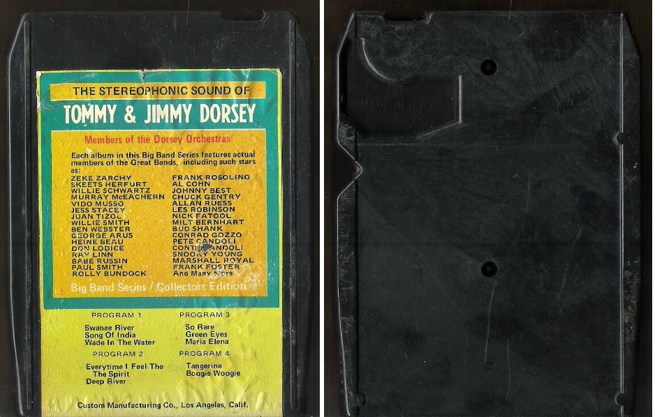 Various Artists (Members of the Dorsey Orchestra) / The Stereophonic Sound of Tommy + Jimmy Dorsey / Bright Orange BO-8714 (8-Track Tape)