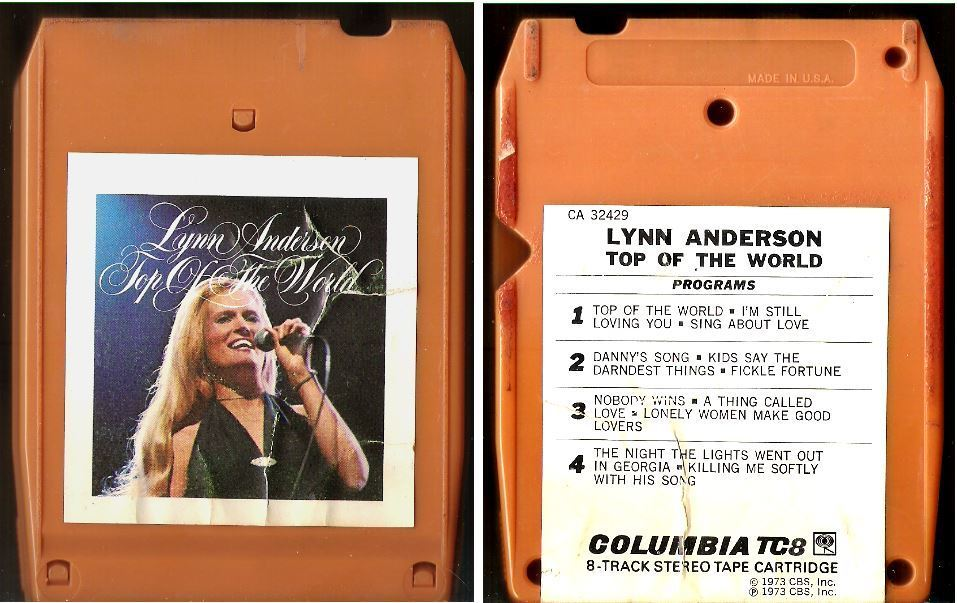 Anderson, Lynn / Top of the World (1973) / Columbia CA-32429 (8-Track Tape)