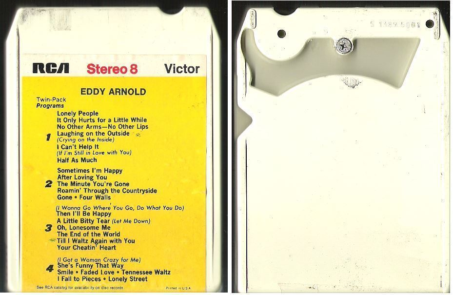 Arnold, Eddy / Sometimes I'm Happy, Sometimes I'm Blue -- Pop Hits From the Country Side (1964) / RCA Victor P8S-5001 (8-Track Tape)