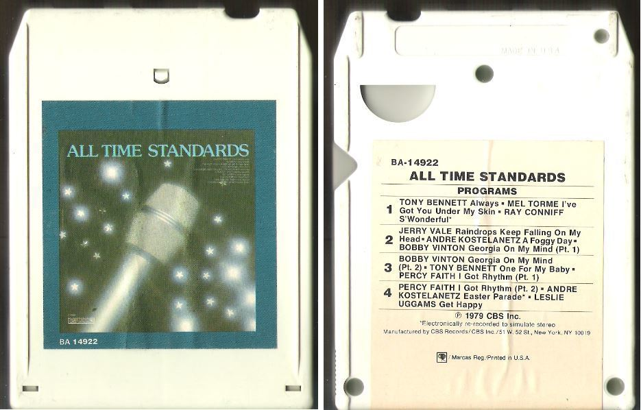 Various Artists / All Time Standards (1979) / Columbia Special Products BA-14922 (8-Track Tape)