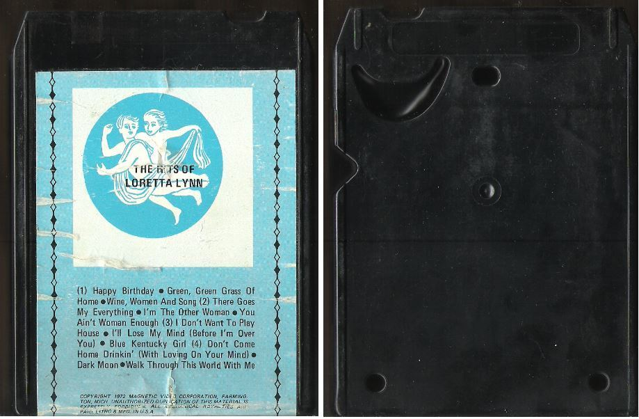 Uncredited Artists / The Hits of Loretta Lynn (1972) / M.V.C. AA-2003 (8-Track Tape)