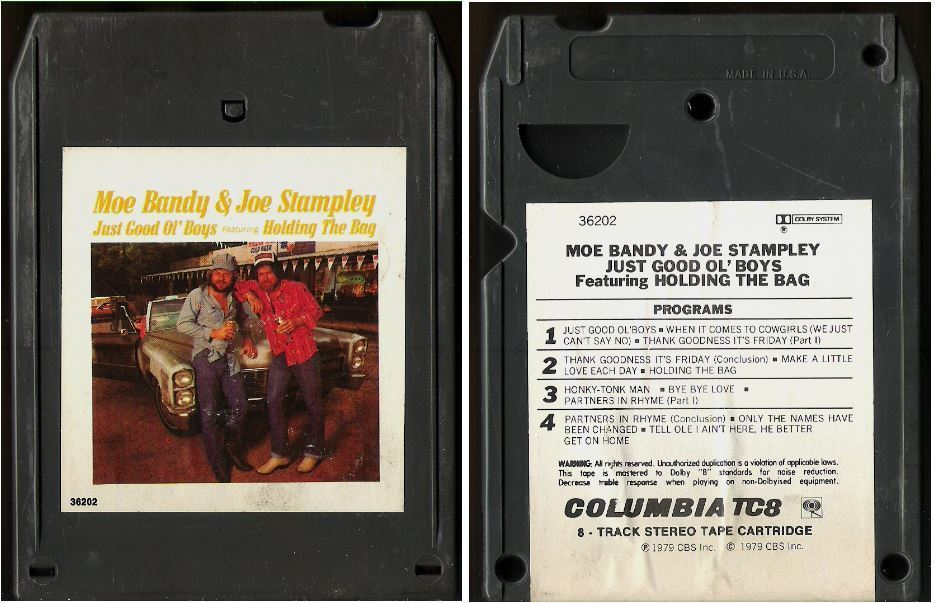 Bandy, Moe (+ Joe Stampley) / Just Good Ol' Boys (1979) / Columbia JCA-36202 (8-Track Tape)