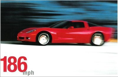 Chevrolet / Corvette (2004) / An American Revolution (Promo Card Ad) / Red Car