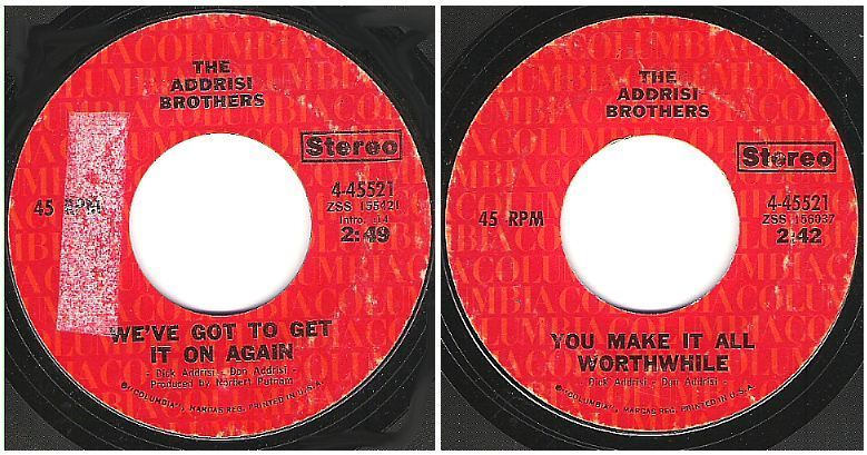 "Addrisi Brothers, The / We've Got to Get It On Again (1972) / Columbia 4-45521 (Single, 7"" Vinyl)"