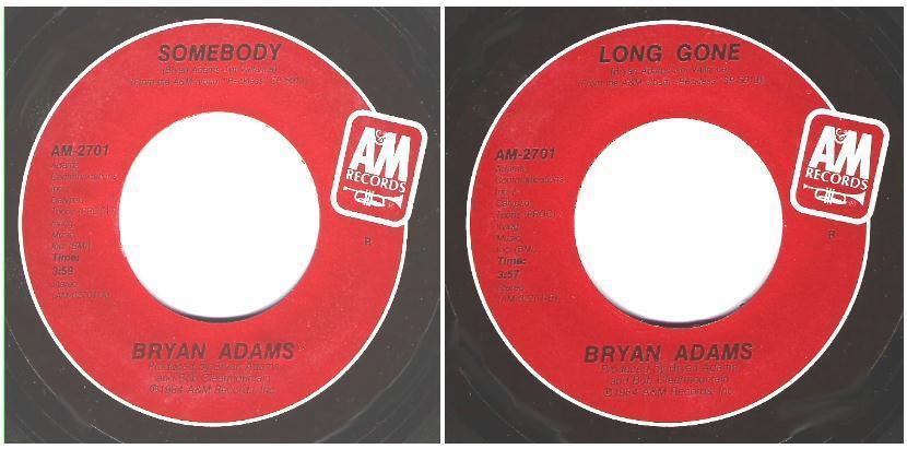 "Adams, Bryan / Somebody (1984) / A+M AM-2701 (Single, 7"" Vinyl)"