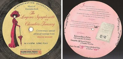 Longines Symphonette + Choraliers / Musical Excerpts / Columbia Special Products (Flexi-Disc)
