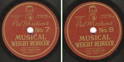 Wheelan, Pat / Pat Wheelan's Musical Weight Reducer No. 7 + 8 (1922) / Pat Wheelan 21885-2/21886-2 (Single, 7