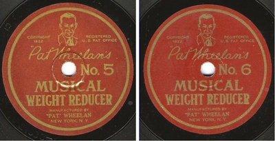 Wheelan, Pat / Pat Wheelan's Musical Weight Reducer No. 5 + 6 (1922) / Pat Wheelan 21883-2/21884-2 (Single, 7