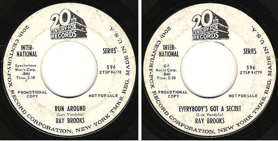 "Brooks, Ray / Run Around (1965) / 20th Century-Fox 596 (Single, 7"" Vinyl) / Promo"