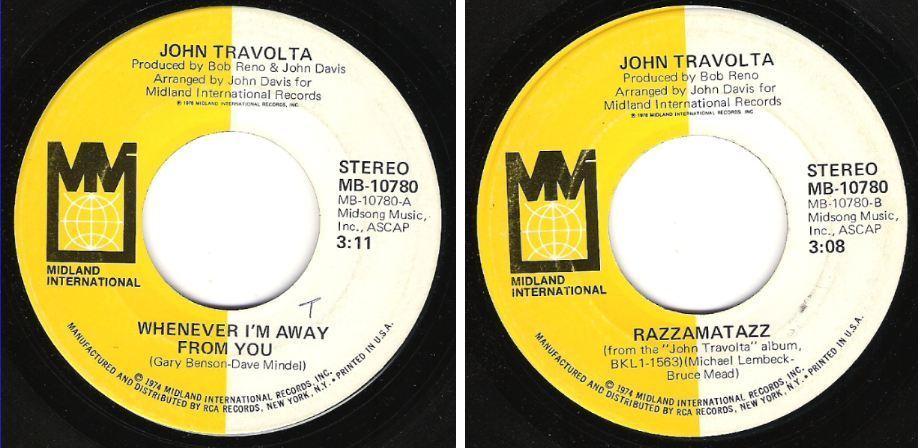 "Travolta, John / Whenever I'm Away From You (1976) / Midland International MB-10780 (Single, 7"" Vinyl)"