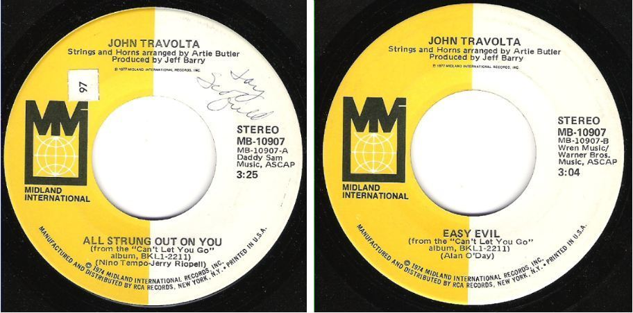 "Travolta, John / All Strung Out On You (1977) / Midland International MB-10907 (Single, 7"" Vinyl)"