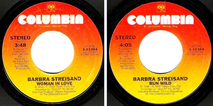 "Streisand, Barbra / Woman In Love (1980) / Columbia 1-11364 (Single, 7"" Vinyl)"