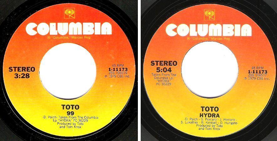 """Toto / 99 (1979) / Columbia 1-11173 (Single, 7"""" Vinyl)"""