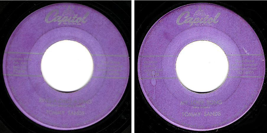 "Sands, Tommy / Ring-A-Ding-A-Ding (1957) / Capitol F3690 (Single, 7"" Vinyl)"