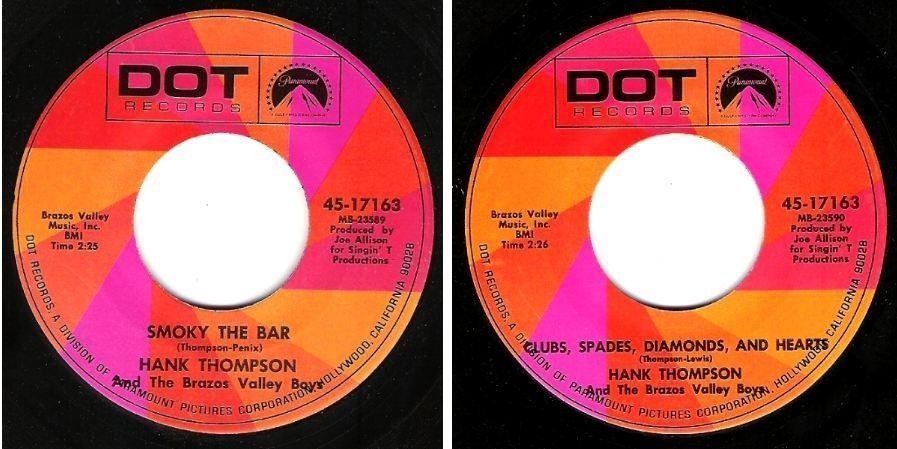 "Thompson, Hank / Smoky the Bar (1968) / Dot 45-17163 (Single, 7"" Vinyl)"