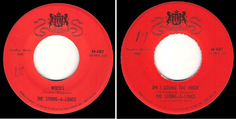 """String-A-Longs, The / Wheels (1960) / Warwick M-603 (Single, 7"""" Vinyl)"""