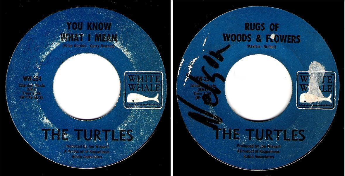 "Turtles, The / You Know What I Mean (1967) / White Whale WW-254 (Single, 7"" Vinyl)"