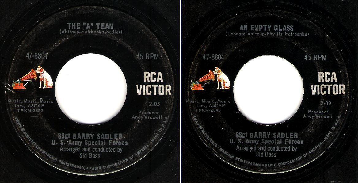 "Sadler, Barry (SSGT) / The ""A"" Team (1966) / RCA Victor 47-8804 (Single, 7"" Vinyl)"