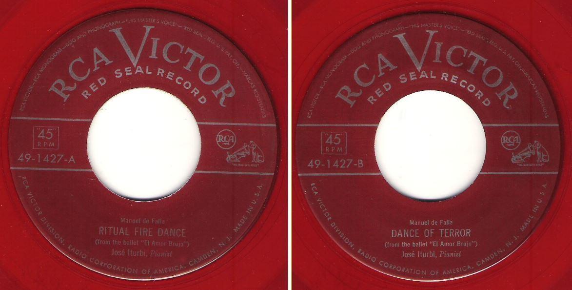 "Iturbi, Jose / Ritual Fire Dance / RCA Victor (Red Seal) 49-1427 (Single, 7"" Red Vinyl)"