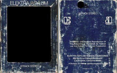 Elektra-Asylum / Dark Blue with White Lettering (8-Track Sleeve)