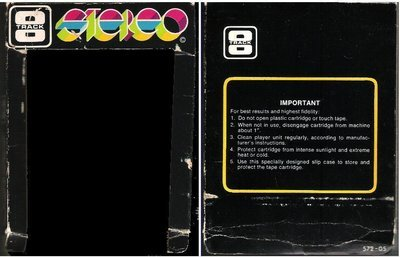 Generic / Black with White Lettering, Multi-Color Stereo Logo (8-Track Sleeve)