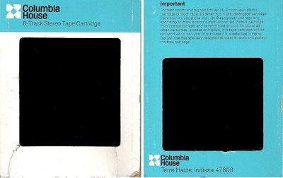 Columbia House / White-Blue with Black Text On Sides (8-Track Sleeve)