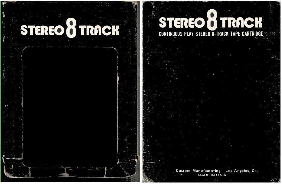 Custom Manufacturing / Black with White Lettering (8-Track Sleeve)