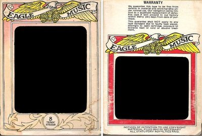 Eagle Music / White-Yellow-Red-Black (8-Track Sleeve)