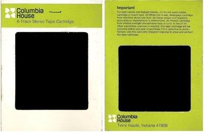 Columbia House / White-Olive Green-Black (8-Track Sleeve)