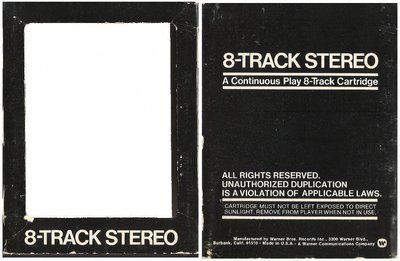 Warner Bros. / Black with White Lettering (8-Track Sleeve)