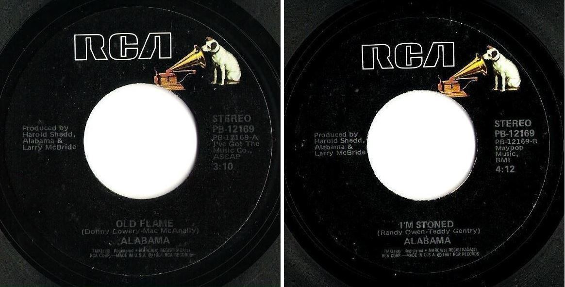 "Alabama / Old Flame (1981) / RCA PB-12169 (Single, 7"" Vinyl)"