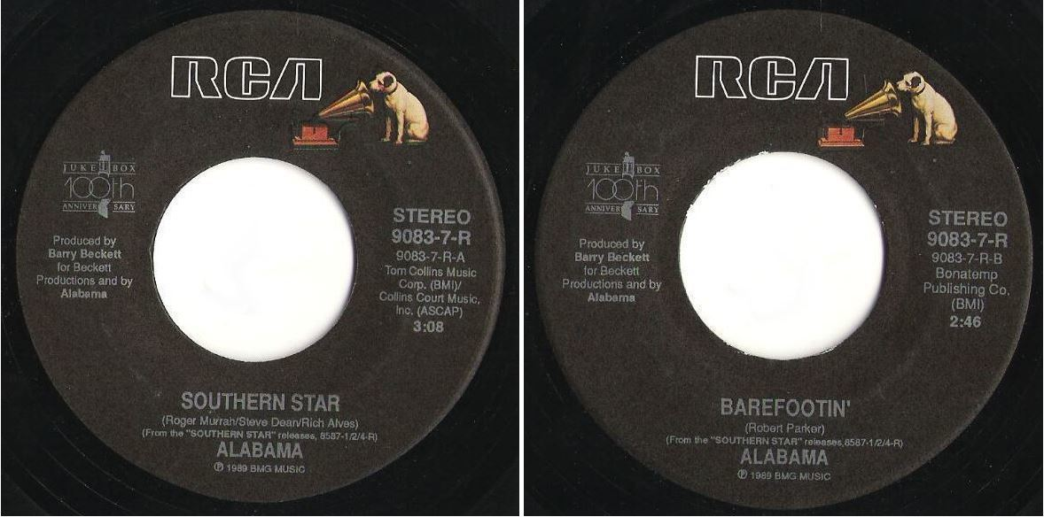 "Alabama / Southern Star (1989) / RCA 9083-7-R (Single, 7"" Vinyl)"